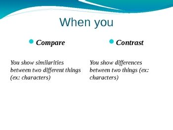 Thesis statement example for compare and contrast